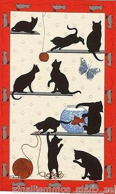 BEAUVILLE, LE CHAT PITRE RED,  FRENCH KITCHEN / TEA TOWEL, N