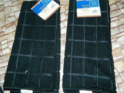 Blessed Kitchen Towels Oven Holder Set Black Gray