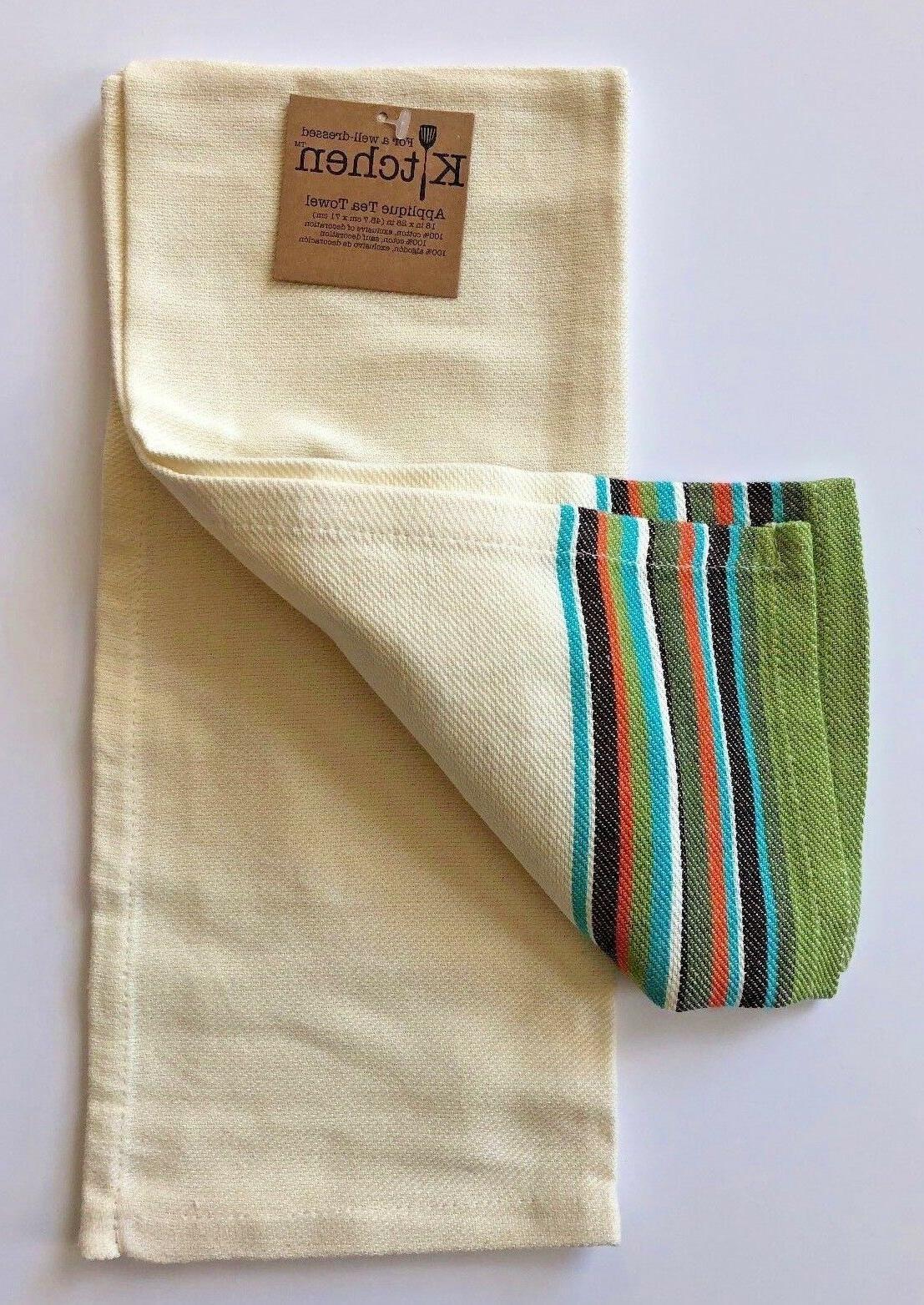 Cat Towel   Ivory Cotton Applique Select 3