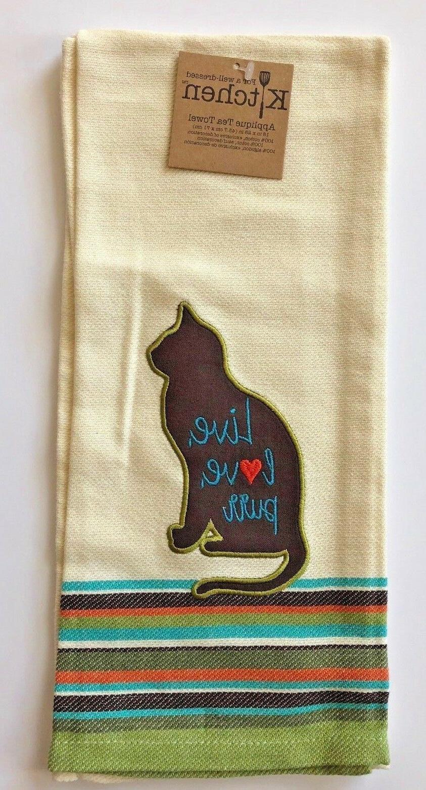 Cat Kitchen Towel Ivory Select 3 Designs