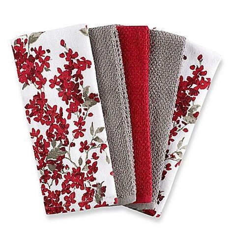 cherry blossom kitchen towel set