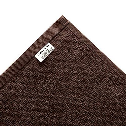 Cotton Pack Waffle Weave Kitchen - Chocolate GSM - 100% Ringspun Ply Cotton - Absorbent Lint