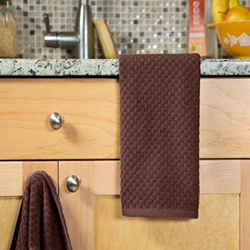 Pack Euro Waffle Terry Towels 16x28 - GSM quality - Ringspun 2 - Highly Absorbent Lint -