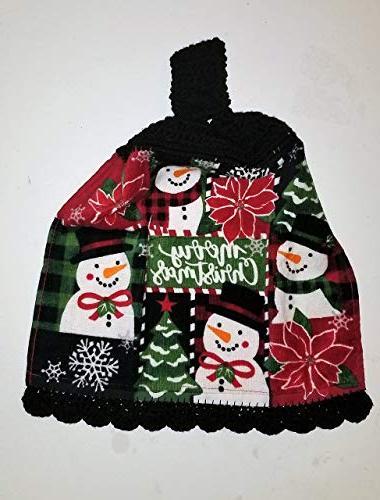 christmas hanging kitchen towel