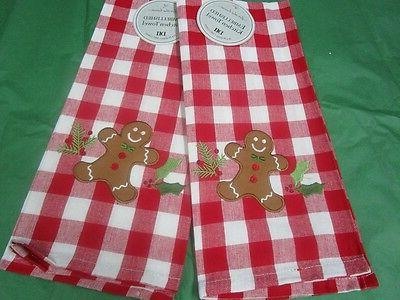 "** Towels ** Gingerbread Man Towels"" *SET of by DII"