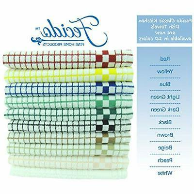 Fecido Classic Kitchen Towels Hanging - Heavy Absorbent Made