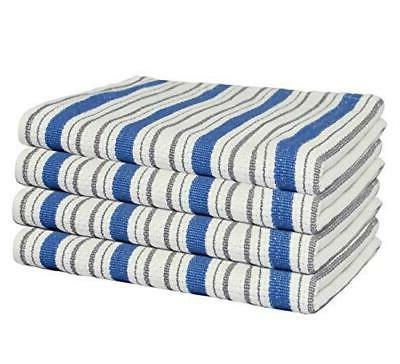 classic stripe set of 4 pure cotton