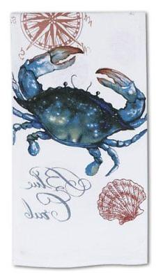Coastal Crabfest Blue Crab Flour Sack Kay Dee Kitchen Towel
