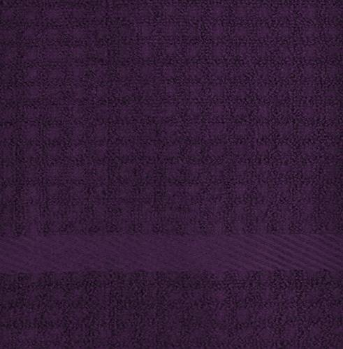 """DII Waffle Terry Dish Towels, 26"""" 4, Ultra Absorbent, Duty, Drying & Kitchen Towels-Eggplant"""