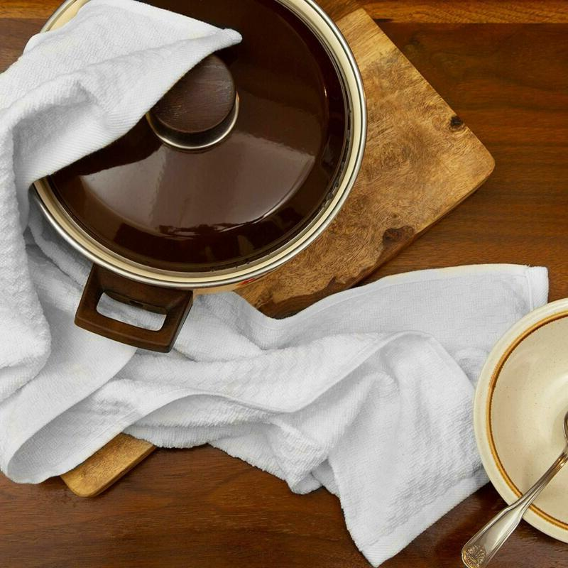 Euro Cafe Waffle Terry Kitchen Absorbent Low