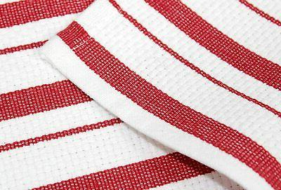 COTTON Pack - Basketweave Towels - Red - Cotton