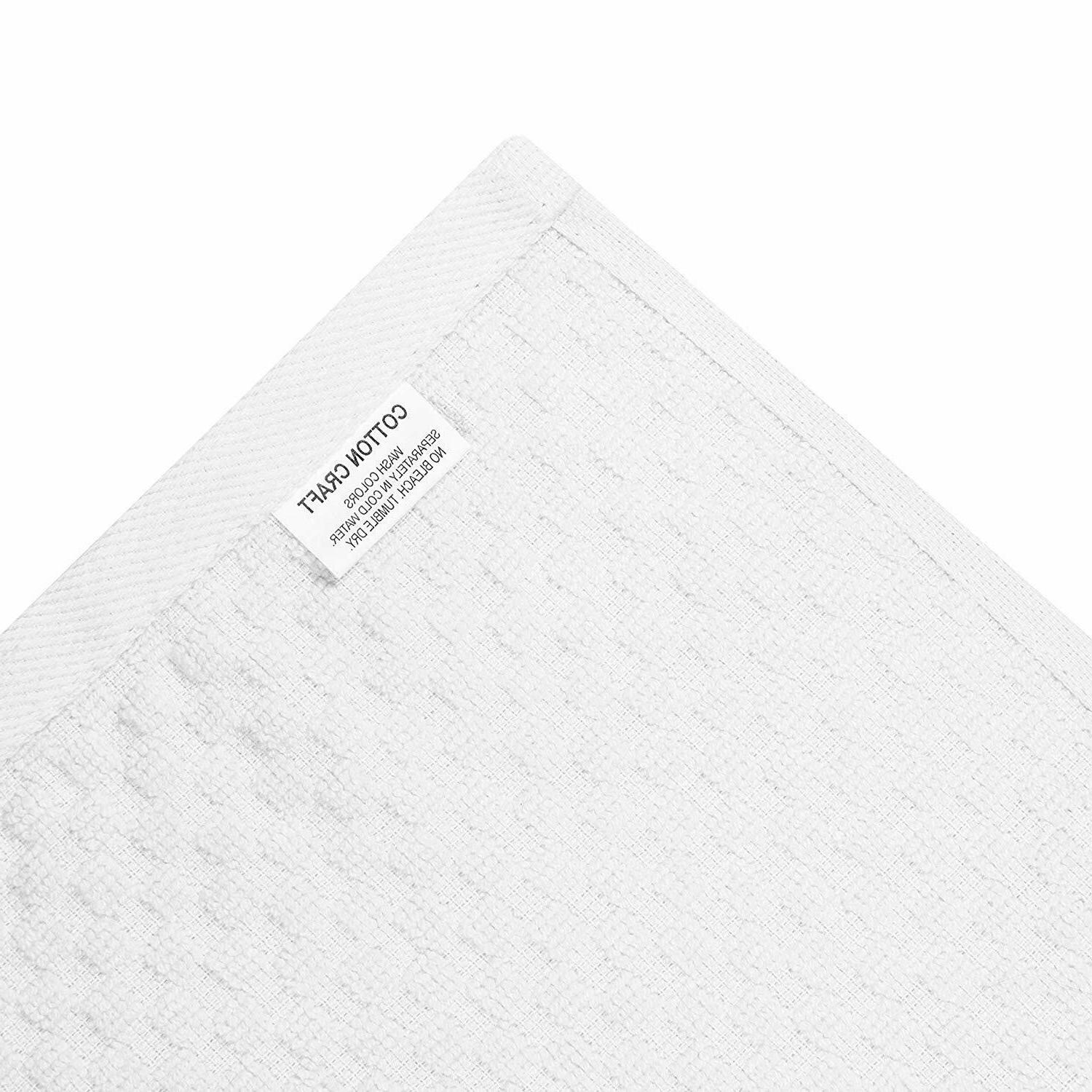 Cotton 8 Pack Euro Waffle Weave Terry Kitchen Towels - 16X28