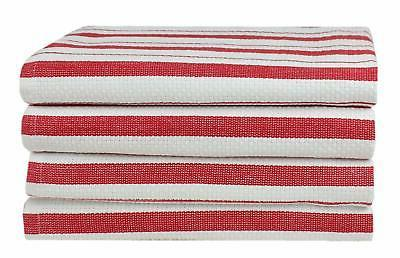 Cotton Craft Pack Oversized Kitchen 20x30 - 100% weave striped Convenient hanging loop - Highly absorbent, Professional yet Sturdy