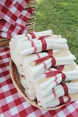 Cotton Flour Stripe Napkins