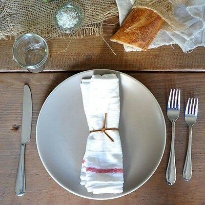 Cotton Flour Kitchen 10 French Stripe Dinner Napkins BBQ