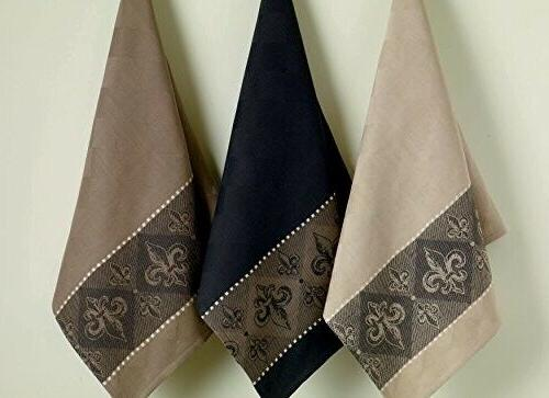 DII Cotton Dish Towels, Set of 3, Tea Towels for