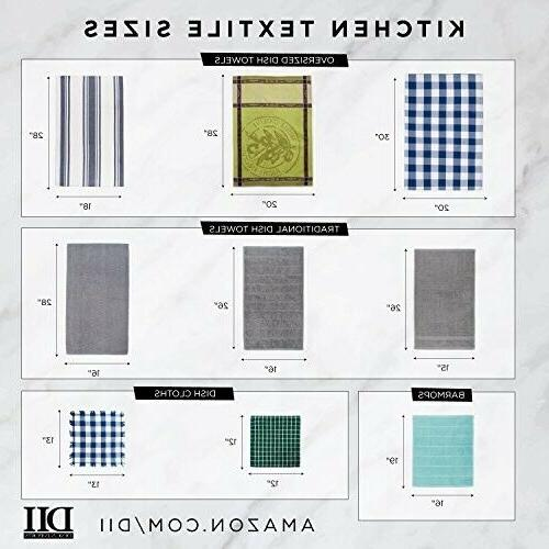 DII Cotton Jacquard Towels, Set 3, for