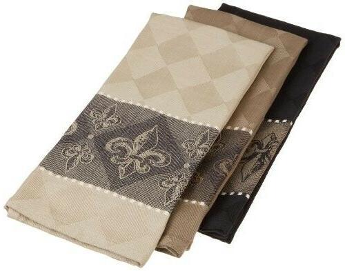 cotton jacquard dish towels 20x28 set of