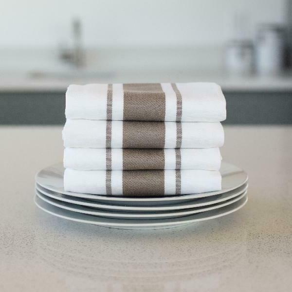 Sticky Dish Towels, Striped 4 Pack, In X 19.5