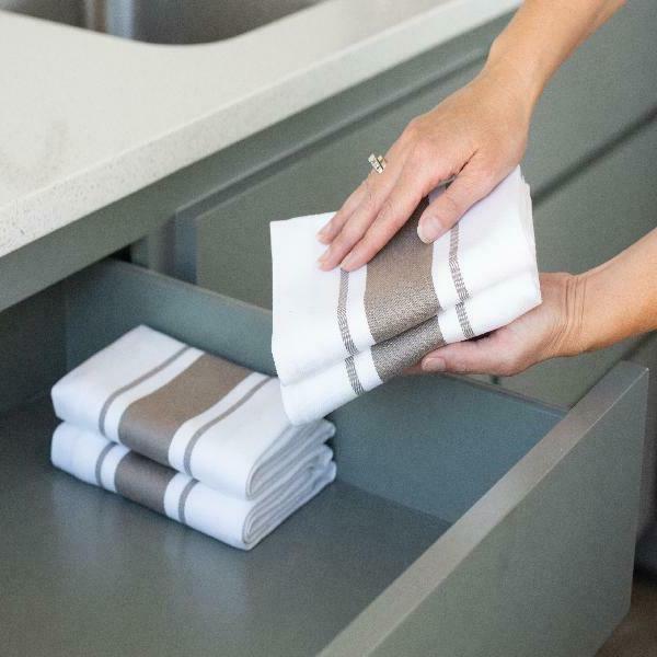 Sticky Dish Towels, Striped 4 X