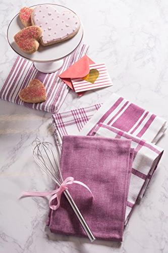 DII Kitchen Dish , Fast Drying, Professional Cotton Towels Everyday - Assorted Set of