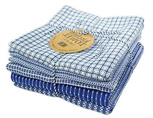 "DII Cotton Oversized Towels 30"" of 5, Absorbent Towels Everyday Cooking and Blue"