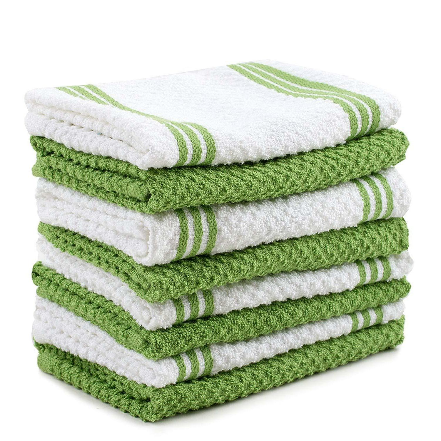 Sticky Toffee Cotton Kitchen Towel, Pack, 16