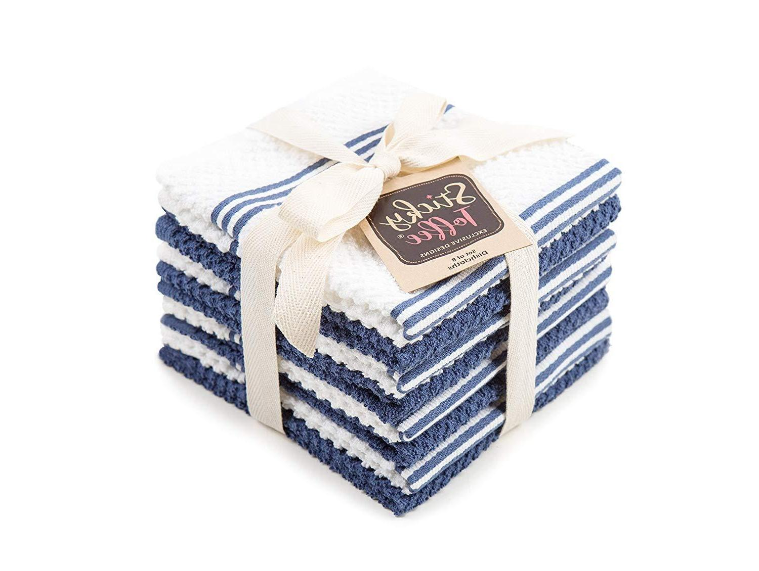 cotton terry kitchen dish towel 4 pack