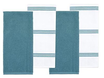 cotton terry kitchen dish towel blue 4