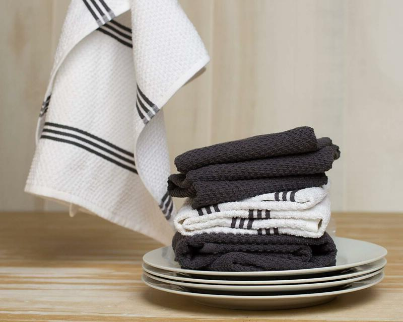 Sticky Kitchen Dish Towel, Gray, 4 28 in x 16