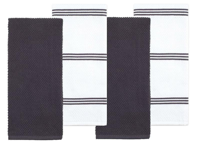 cotton terry kitchen dish towel gray 4