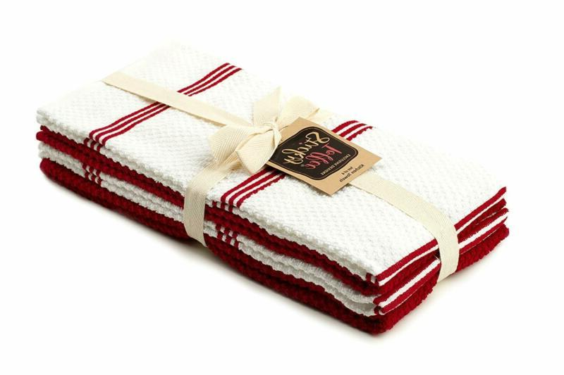 Sticky Toffee Cotton Kitchen Dish Towel, 4 Pack, x