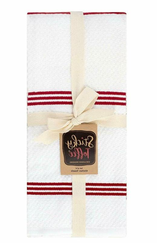 Sticky Terry Kitchen Dish Towel, 4 Pack, in x 16 in