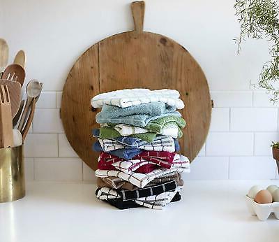 "Ritz Cotton Kitchen Dish Towels 25""X15"" 3Pack Mocha"