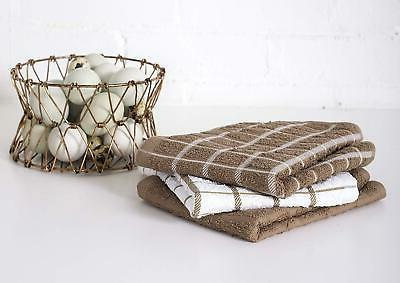 """Ritz Cotton Terry Dish Highly Absorbent 25""""X15"""" 3Pack"""