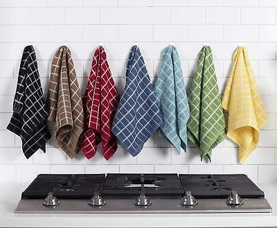 """Ritz Cotton Terry Dish Towels Absorbent 25""""X15"""" 3Pack Mocha"""
