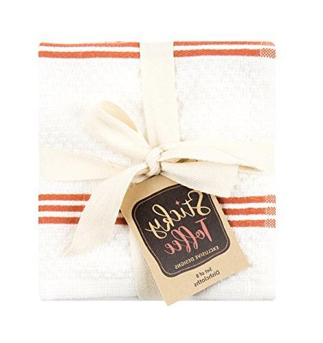 Sticky Cotton Terry Kitchen Dishcloth, Orange, Pack, 12 12