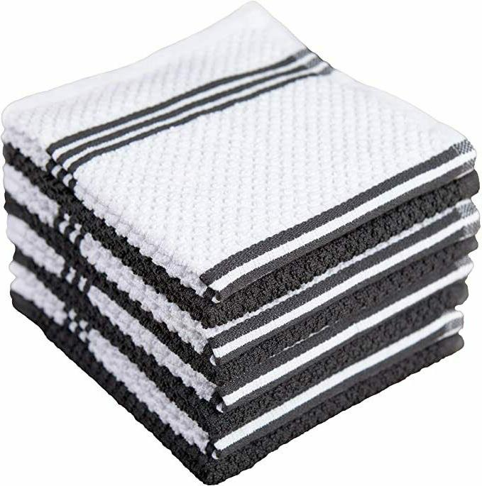 cotton terry kitchen dishcloth 8 pack 12