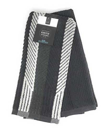 cotton terry towels grey piano