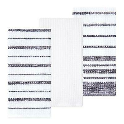 cotton waffle weave kitchen towels gray 3