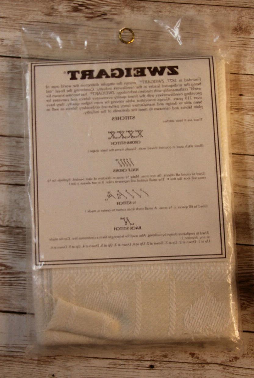 """Zweigart Kitchen Towel 11 """" x 28"""" Ivory"""