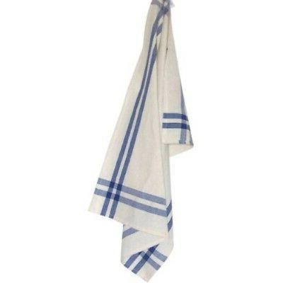 Dunroven House Cream Towel, 20 x 29-Inch, Provencial Blue an