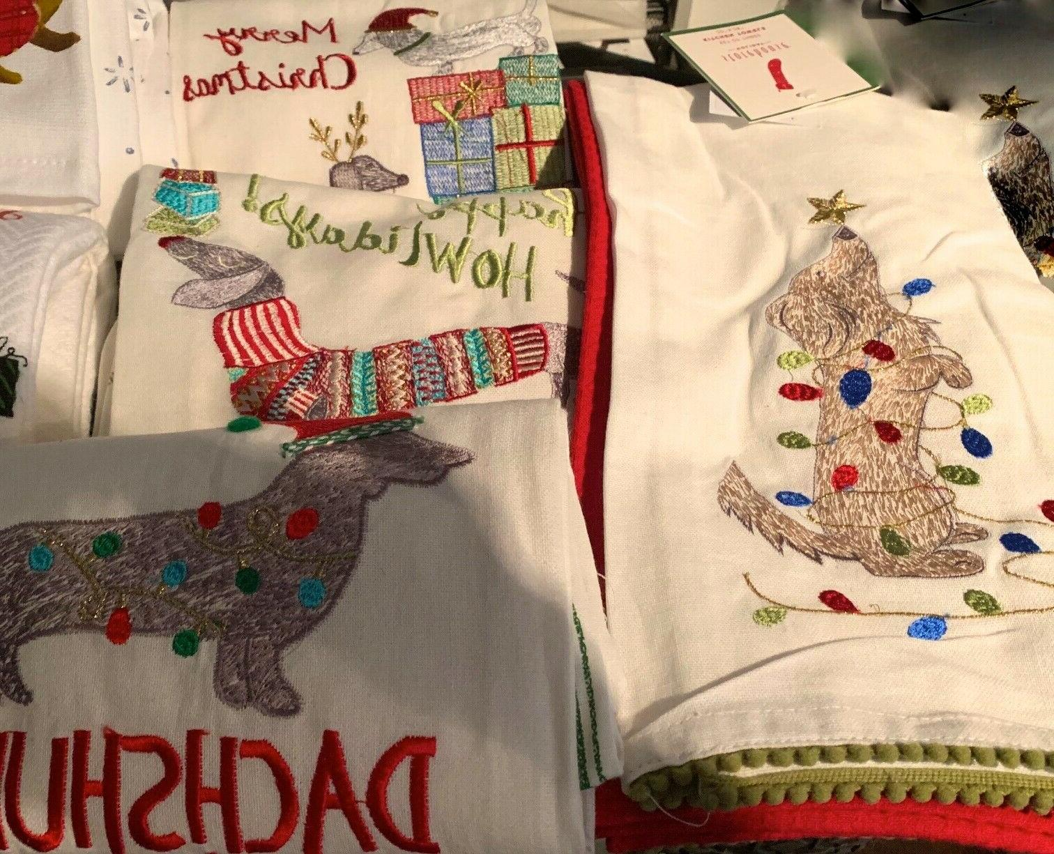 dachshund christmas kitchen towels 10 styles to
