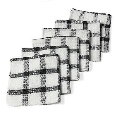 Checkered Pattern Navy Cotton Kitchen Napkin