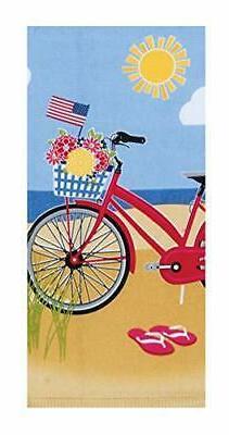 Kay Dee Designs Beach Bike Dual Purpose Terry Kitchen Towel,