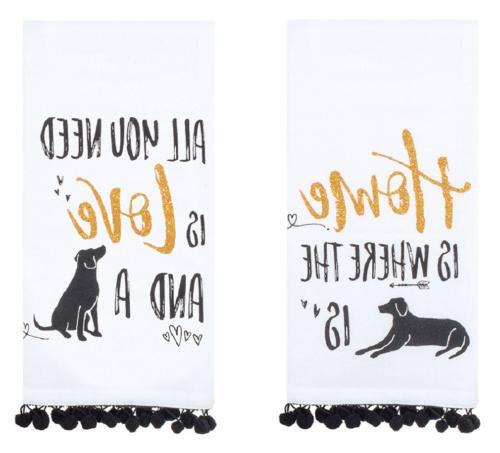 designs dog lover cotton kitchen