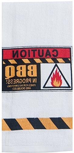 Kay Dee Designs W4138 Caution BBQ Terry Towel