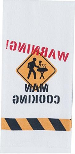 Kay Dee Designs W4139 Warning Man Cooking BBQ Terry Towel