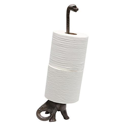 Dinosaur Toilet Paper Towel Holder Stand - Long Neck Brontos