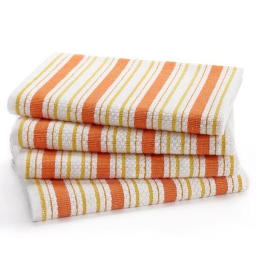 Cotton Craft Pack - Basket Weave Kitchen - Coral - Cotton Oversized Clean Striped Pattern Convenient Loop